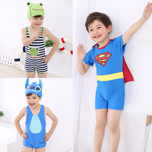 Children's Swimming Suit for Free Domestic Freight, Children's Swimming Trousers for Small and Medium Boys, Lovely Korean Connected Swimming Suit, Baby's Sunscreen Swimming Suit for Babies