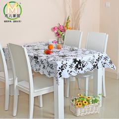 零甲醛 pvc塑料餐桌布 台布茶几布桌垫 免洗防水防油耐热圆桌田园