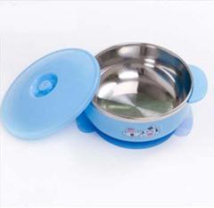儿童餐具不锈钢碗吸盘碗宝宝碗婴儿碗儿童碗婴儿不锈钢保温碗带盖