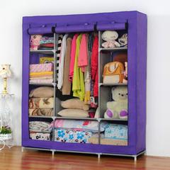 梦之真简易衣柜超大不晃动组合布衣柜家居收纳布衣橱3.3折特价