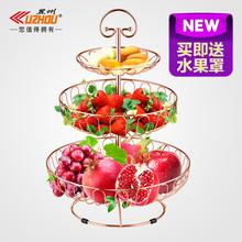 三层水果篮现代客厅简约水果盘欧式创意多层果盘篮多功能家用果篮