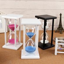 沙漏计时器30/60分钟时间儿童防摔创意小摆件家居装饰品酒柜客厅