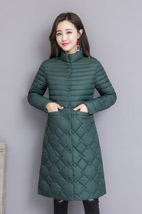 反季棉衣女中长款韩版加厚羽绒棉服2018新款棉袄中年女士冬季外套