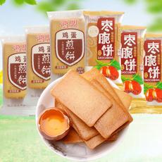 3斤鸿盟鸡蛋煎饼干烙蛋糕枣脆饼铁板烧无添加食品早餐健康零食