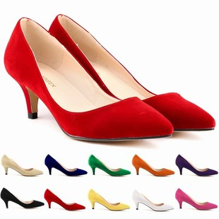 ladies women fashion high heels shoes pumps 2017 Red, white