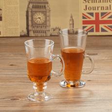 甜品杯 玻璃杯透明杯子窈窕杯 花茶杯高脚拿铁杯 爱尔兰冰咖啡杯