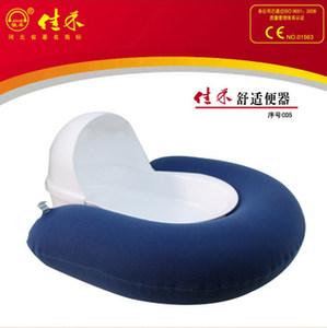 正品<span class=H>佳禾</span>防褥疮充气便盆气垫便盆座便器老人卧床护理用接尿器