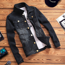 Cowboy jacket men's new fashionable spring and autumn clothes, leisure and fitness jacket, popular handsome men's clothes for young boys