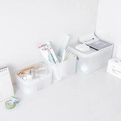 宿舍桌面磨砂塑料有盖护肤品化妆收纳盒自由组合首饰收纳整理盒