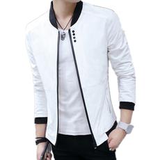 春秋季夹克衫薄款青年夹克潮流休闲外衣修身青少年男学生外套上衣