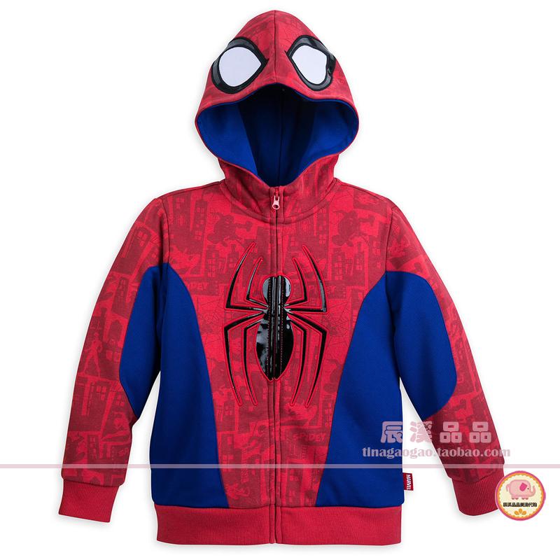 代购Disney美国迪士尼乐园 童装男童春装 美国队长蜘蛛侠复联卫衣图片