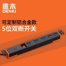 德木5位pdu机柜电源分配器无线接线板插座工业PC防火阻燃质保6年