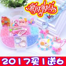 女孩首饰盒大童串珠发饰戒指组合玩具3-4-5-6-7-8-9-10岁女童礼物