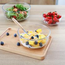 透明玻璃碗沙拉碗家用餐具汤碗创意甜品碗耐热大碗泡面碗水果盘子