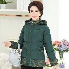 新款中老年女装妈妈冬装棉衣棉袄冬季上衣40岁50中年羽绒棉服外套