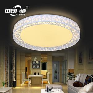 卧室现代简约吸顶灯 三色调光LED灯具温馨浪漫铁艺吸顶灯次卧高亮