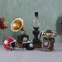欧式怀旧复古摆件留声机美式创意家居客厅小摆设餐厅酒柜装 饰品
