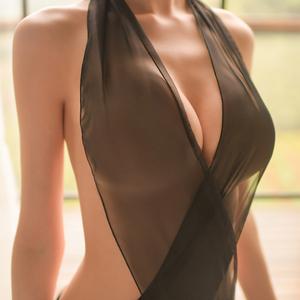 性感吊带三点式薄纱透视睡裙情趣内衣服制服诱惑骚夜火小胸女激情