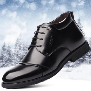 特大号加绒男士皮鞋45休闲高帮46加肥加大码47保暖棉鞋48真皮男鞋