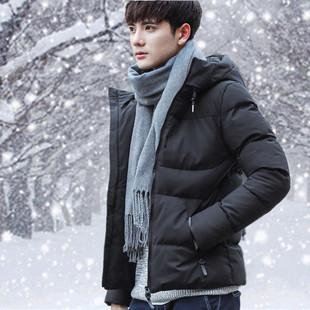 男生冬季外套短款韩版潮流男款棉服2017新款高中学生百搭帅气棉衣