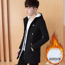 青少年14夹克15男孩16高中学生18岁秋冬季加厚加绒外套男韩版潮流