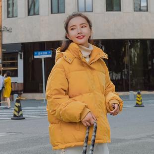 2019冬装新款ins韩版短款加厚羽绒棉衣女百搭学生外套面包服棉袄