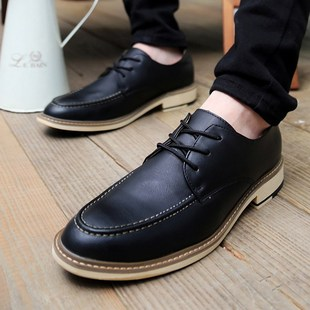 England men leather shoe wild casual driving shoes Peas