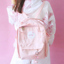 Face New Campus Xiaoqingxin Japanese and Korean Edition Girls Shoulder Bag Flamingo Printed Backpack Travel Bag