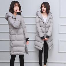 2017新款冬季女装外套羽绒棉服女加厚长过膝棉衣女中长款韩版学生
