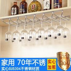 304不锈钢高脚红酒杯架倒挂家用欧式创意葡萄酒柜吊杯子悬挂摆件