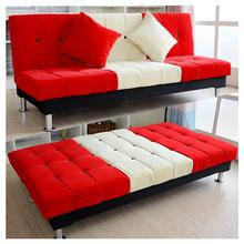 小户型简欧式懒人沙发床出租房折叠沙发床1.8米三人位布艺沙发床