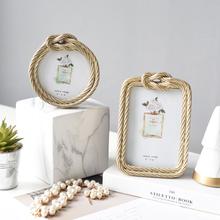 轻奢简欧风创意样板房间卧室欧式家居婚庆个性 饰品6寸相框摆台