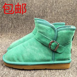 外贸原单断码撤柜冬季雪地靴加绒加厚靴平底圆头保暖棉鞋防滑女鞋