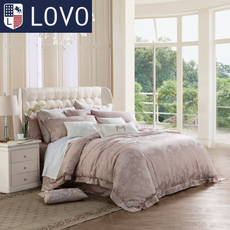 lovo家纺罗莱生活出欧式提花四件套全棉纯棉被套高档奢华床单被罩