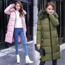 Down jacket long cotton coats ladies Down Jackets_