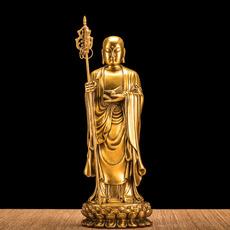 福佑林 九华山开光99米地藏铜像同款纯铜地藏王菩萨佛像站像摆件
