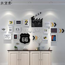 丝黛秀 创意家居卧室字母照片墙相框装饰画相片墙夹子导演牌挂墙