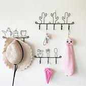 卡通铁艺挂钩创意家居ins装 饰壁挂衣帽钩墙上钥匙收纳挂墙置物架