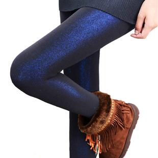保暖毛裤彩色秋冬款不起球踩脚冬天外穿加绒加厚透彩打底裤女绒裤