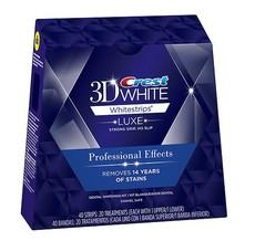 美国佳洁士3D超强密集型20对/40片美白牙贴快速美白去黄牙渍强效