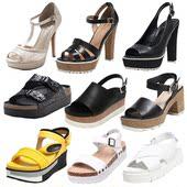 达芙妮 夏季凉鞋女夏中粗跟单鞋女时尚厚底高跟平底低跟 细跟清仓