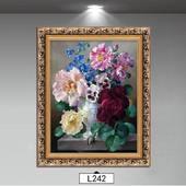 欧式有框装 饰画客厅卧室餐厅玄关有框挂画家居壁挂画花卉油画牡丹