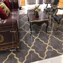 欧式美式现代轻奢华地毯客厅茶几地毯加厚卧室书房床尾满铺地毯