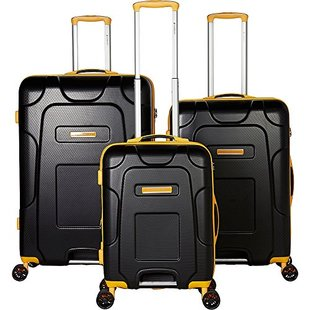 Gabbiano Enzo 3 Piece Expandable Hardside Spinner Luggage Se
