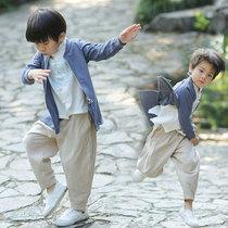 儿童汉服男童中国风春秋季唐装男宝宝中式改良复古装小孩民族服装