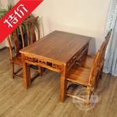 餐饮碳化实木餐桌椅火锅店 桌椅饭店农家乐大排档桌椅组合