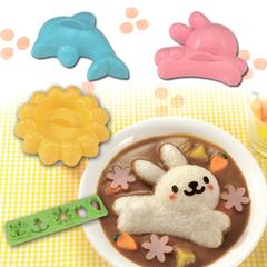 包邮 兔子海豚米饭模具4件套 便当饭团寿司DIY工具