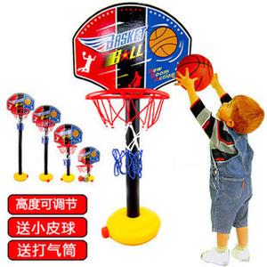 儿童篮球架可升降 1-2-3-4周岁半男女<span class=H>宝宝</span>室内外篮球投篮体育玩具