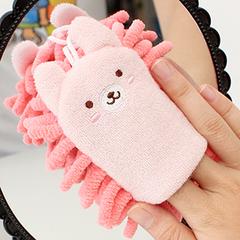 5087 时间创意 可爱兔子雪尼尔手指手机擦 动物电脑清洁抹布