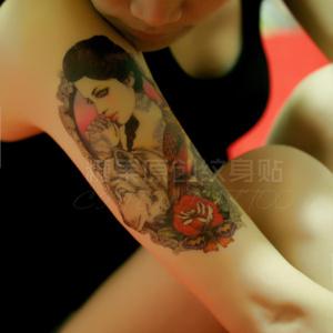 纹身贴纸美女价格图片